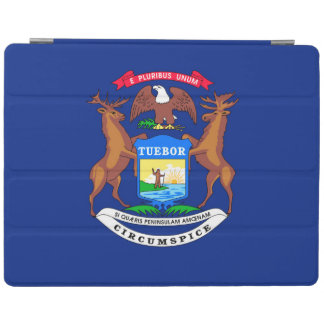 Michigan State Flag Design Decor iPad Cover