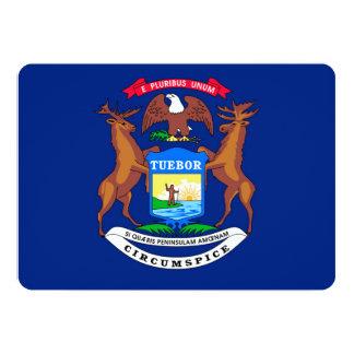 Michigan State Flag Design 5x7 Paper Invitation Card