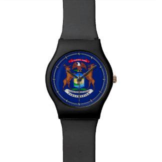 Michigan State Flag Design Wristwatch