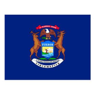 Michigan State Flag Design Postcard