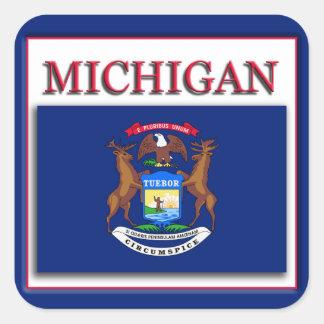 Michigan State Flag Design Sticker