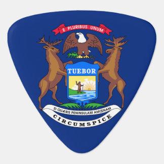 Michigan State Flag Guitar Pick
