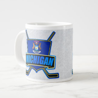 Michigan State Flag Hockey Logo Mug Jumbo Mug
