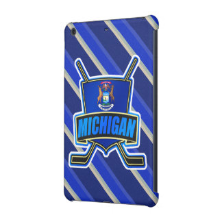Michigan State Flag Hockey Tablet Case