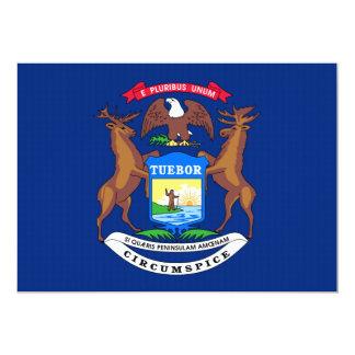 "Michigan State Flag 5"" X 7"" Invitation Card"