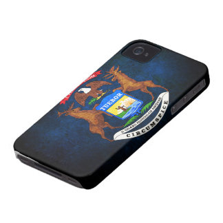 Michigan state flag iPhone 4 Case-Mate case