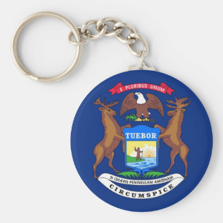 Michigan State Flag Key Chains