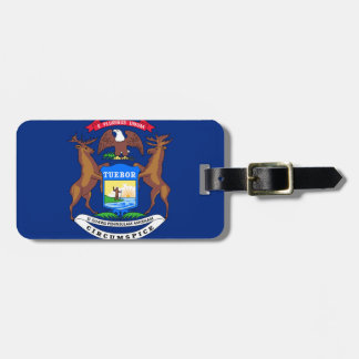 Michigan State Flag Tag For Bags