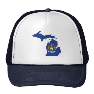 Michigan State Flag Map Hats