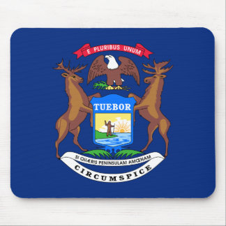 Michigan State Flag Mouse Pads