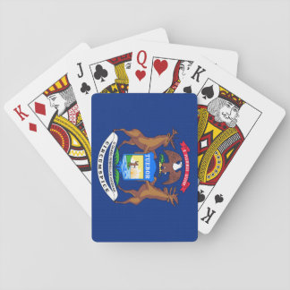Michigan State Flag Poker Cards
