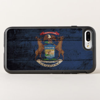 Michigan State Flag on Old Wood Grain OtterBox Symmetry iPhone 8 Plus/7 Plus Case