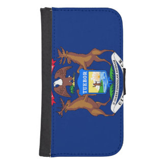 Michigan State Flag Galaxy S4 Wallet Cases