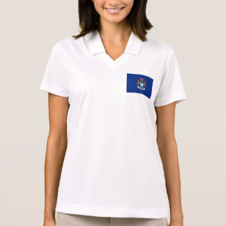 Michigan State Flag Polo T-shirts