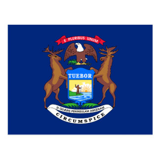 Michigan State Flag Postcard