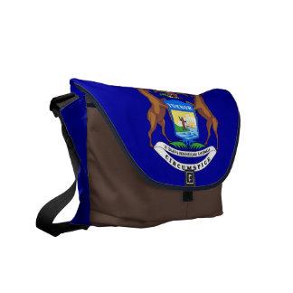 Michigan State Flag Rickshaw Messenger Bag