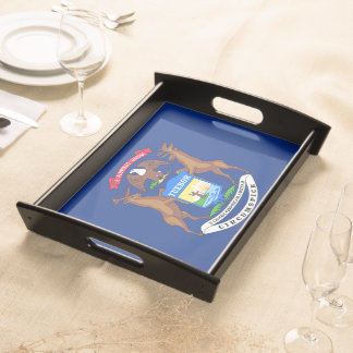 Michigan State Flag Serving Platters