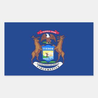 Michigan State Flag Rectangular Stickers