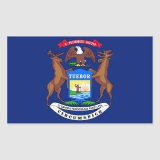 Michigan State Flag Sticker