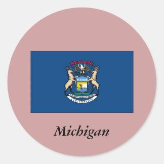Michigan State Flag Stickers