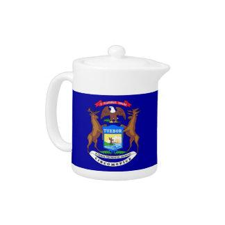 Michigan State Flag Teapot