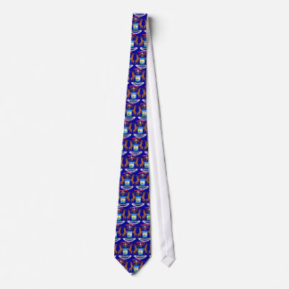 Michigan State Flag Tie