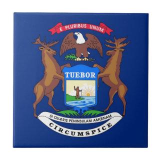 Michigan State Flag Ceramic Tiles