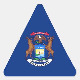 Michigan State Flag Triangle Sticker