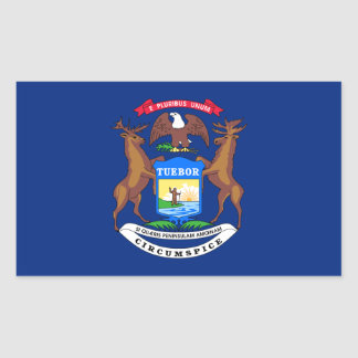 Michigan State Flag, United States Rectangular Sticker
