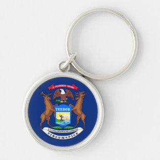 Michigan state flag usa united america symbol key ring