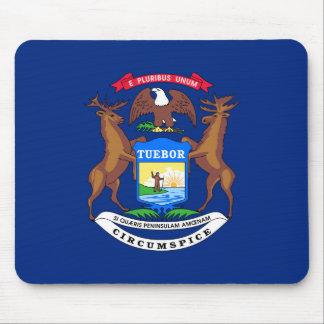 Michigan state flag usa united america symbol mouse pad
