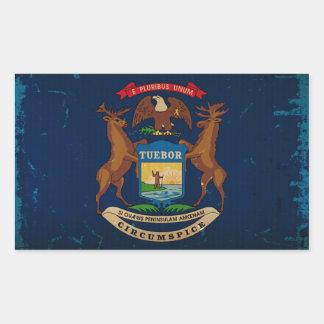 Michigan State Flag VINTAGE.png Rectangular Sticker