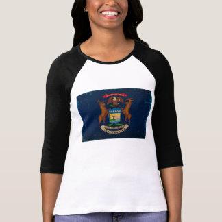Michigan State Flag VINTAGE.png T-shirts