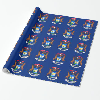 Michigan State Flag Wrapping Paper