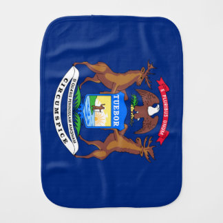 Michigan State Flag Baby Burp Cloths