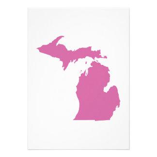 Michigan State Outline Custom Invites