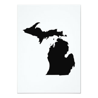 "Michigan State Outline 5"" X 7"" Invitation Card"