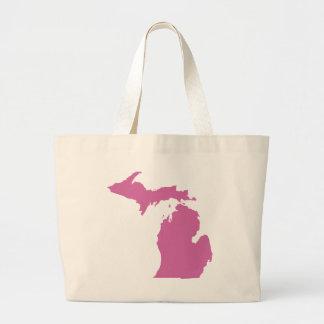 Michigan State Outline Jumbo Tote Bag
