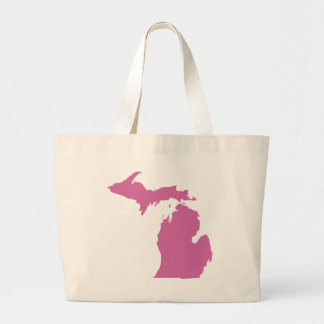Michigan State Outline Large Tote Bag