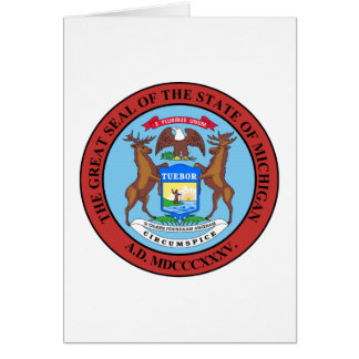 Michigan State Seal and Motto Card