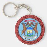 Michigan State Seal Keychain