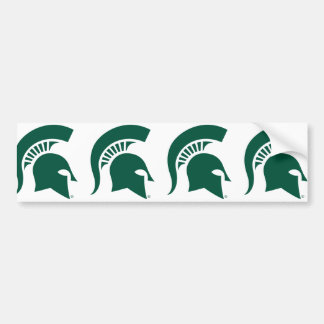 Michigan State University Spartan Helmet Logo Bumper Sticker