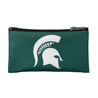 Michigan State University Spartan Helmet Logo Cosmetic Bag