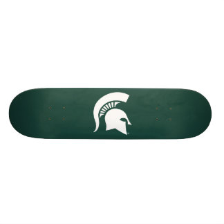 Michigan State University Spartan Helmet Logo Skateboard Deck