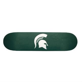 Michigan State University Spartan Helmet Logo Skateboard Deck