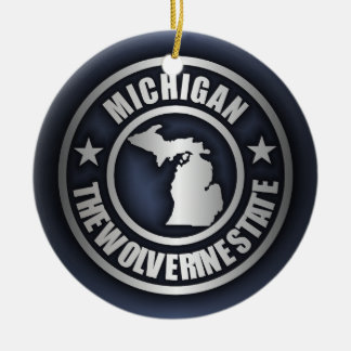 """Michigan Steel"" Decorative Ornaments (Blue)"