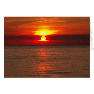Michigan Sunset Greeting Card