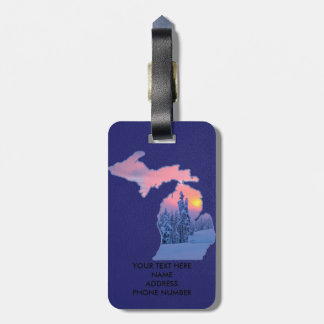 MICHIGAN THE GREAT LAKES STATE TAGS FOR LUGGAGE