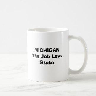 MICHIGAN The Job Loss State Basic White Mug