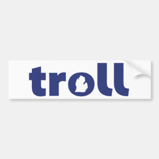 Michigan Troll Bumper Sticker